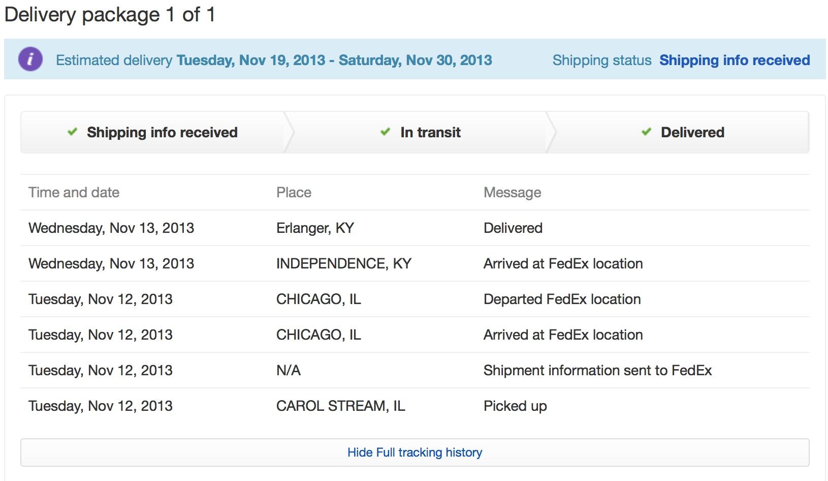 Pbi tracking ebay