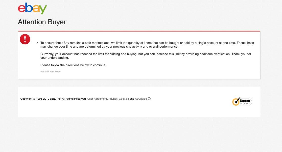 Commit To Buy Button Raises Error Message The Ebay Community