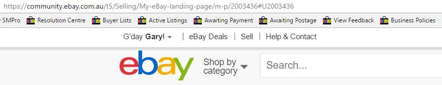 My Ebay Landing Page The Ebay Community