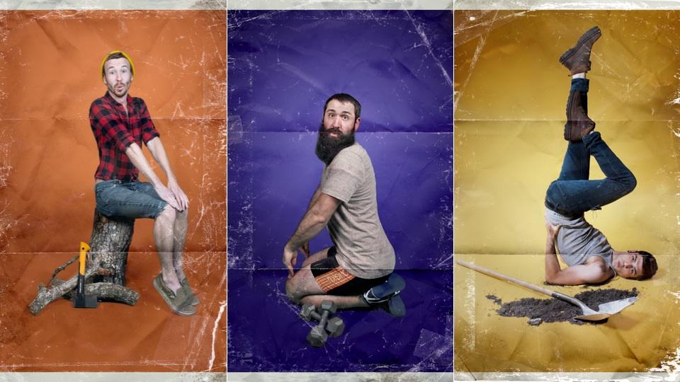 If men posed like women