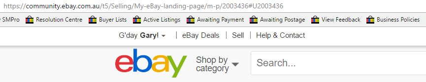 how to change ebay landing page