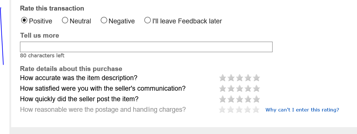 how to leave feedback for buyers on ebay